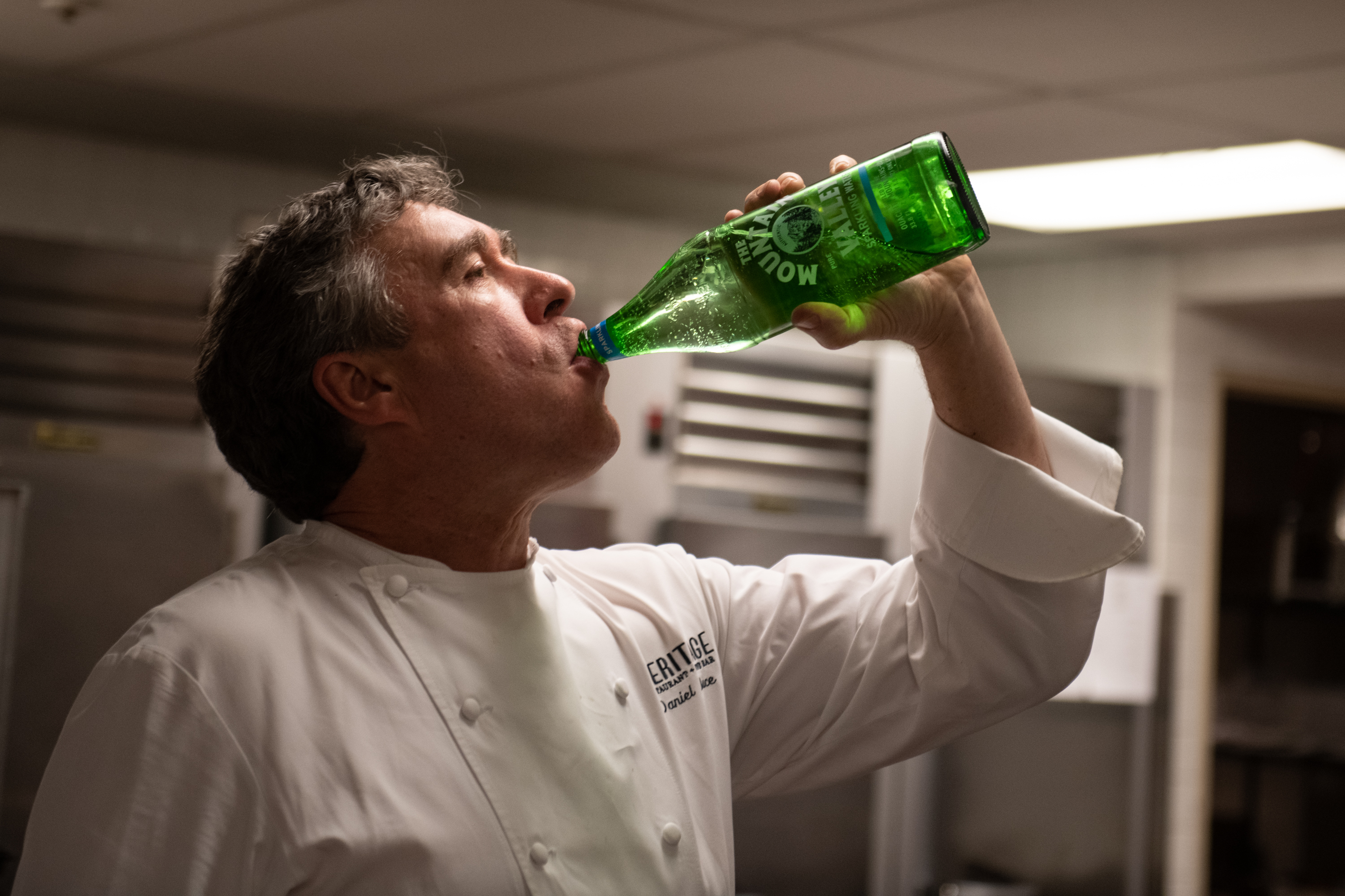 Chef Daniel Bruce & Mountain Valley Water